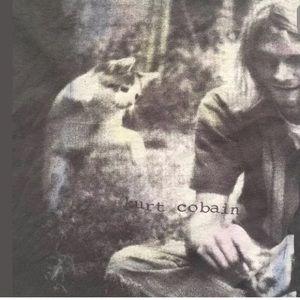 Tultex Tops - Kurt Cobain and Cat Dark Gray 2011 Graphic Tee
